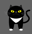 black kitten cat with yellow eyes cute cartoon vector image vector image
