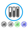 blood analysis rounded icon vector image vector image