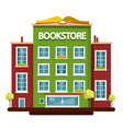 bookstore building flat design vector image