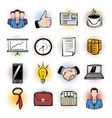 Business comics icons vector image vector image