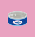 canned tuna in flat style vector image