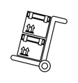 cart box packing icon vector image vector image