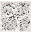cartoon doodle set nail salon designs vector image vector image