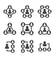 Connecting people icon set