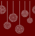decorative seamless christmas border vector image vector image