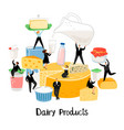 diary products vector image vector image