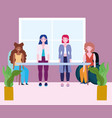 diversity and inclusion female group different vector image vector image