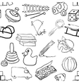 doodle toys seamless pattern vector image vector image