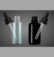 dropper bottle set with pipette vape oil serum vector image vector image