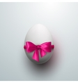 Easter Egg With Pink Bow vector image vector image