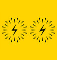electrical sign with sparks icon vector image
