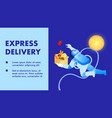 express delivery promo banner template vector image vector image
