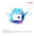first aid medical kit icon - watercolor background vector image vector image