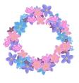 Floral cute wreath vector image vector image