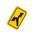 Fork in the road sign icon isometric 3d style vector image vector image