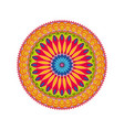 geometric ornament colorful card with mandala vector image vector image