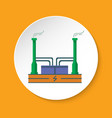 geothermal power plant icon in flat style on round vector image vector image