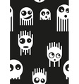 Ghost monsters seamless pattern vector image