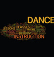 great ways to learn to dance text background word vector image vector image