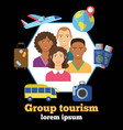 group tourism colorful poster vector image