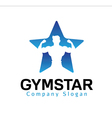 Gymstar Design vector image