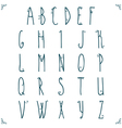 Hand drawn alphabet design vector image vector image