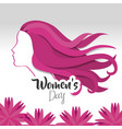 happy women day cards icon vector image