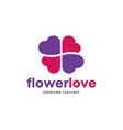 heart color logo flower heart logo vector image
