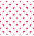heart shape seamless pattern pink color vector image vector image