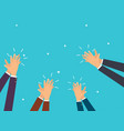 human hands clapping flat design modern concept vector image