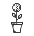 investment growth line icon business and finance vector image
