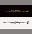 jazz flute classical wind vector image