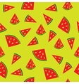 Juicy watermelon pattern vector image