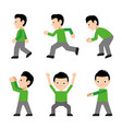 man walk run jump action character cartoon vector image