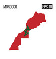 morocco map border with flag eps10 vector image