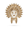 Native american indian chief vector image