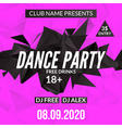 Night Dance Party design template in polygonal vector image vector image