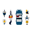 people on transport top view driving car vector image vector image
