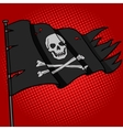 Pirate flag pop art style vector image vector image