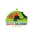 quick delivery logo vector image vector image