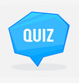 quiz quote banner with typography in blue vector image vector image