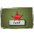 red and green star frame vector image vector image