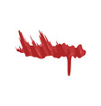 red brush stroke dripping blood vector image
