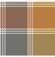 retro mosaic plaid pixel seamless pattern vector image vector image