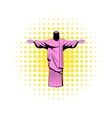 Rio de janeiro christ icon comics style vector image vector image