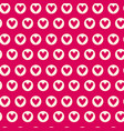 seamless pattern with pink hearts repeating vector image