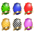 set multi-colored labels eps10 vector image