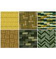 set wood herringbone floor tiles pattern seamless vector image vector image