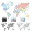set world maps vector image