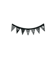 simple black icon of flags or pennants on white vector image vector image